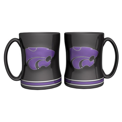 Boelter Brands Kansas State University 14 oz. Relief Mugs 2-Pack