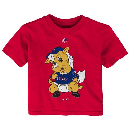 Majestic Infants' Texas Rangers Baby Mascot Short Sleeve