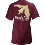 Three Squared Juniors' Florida State University State Monogram Anchor T-shirt