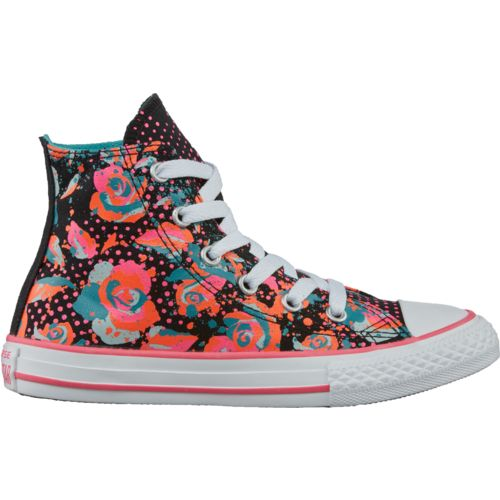 Converse Girls' Chuck Taylor All Star Neon Floral High-Top Shoes