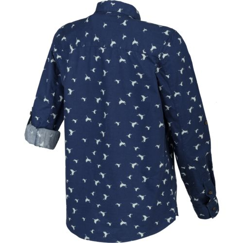 Magellan Outdoors Women's Cute Catch Long Sleeve Roll Up Printed Fishing Top - view number 2