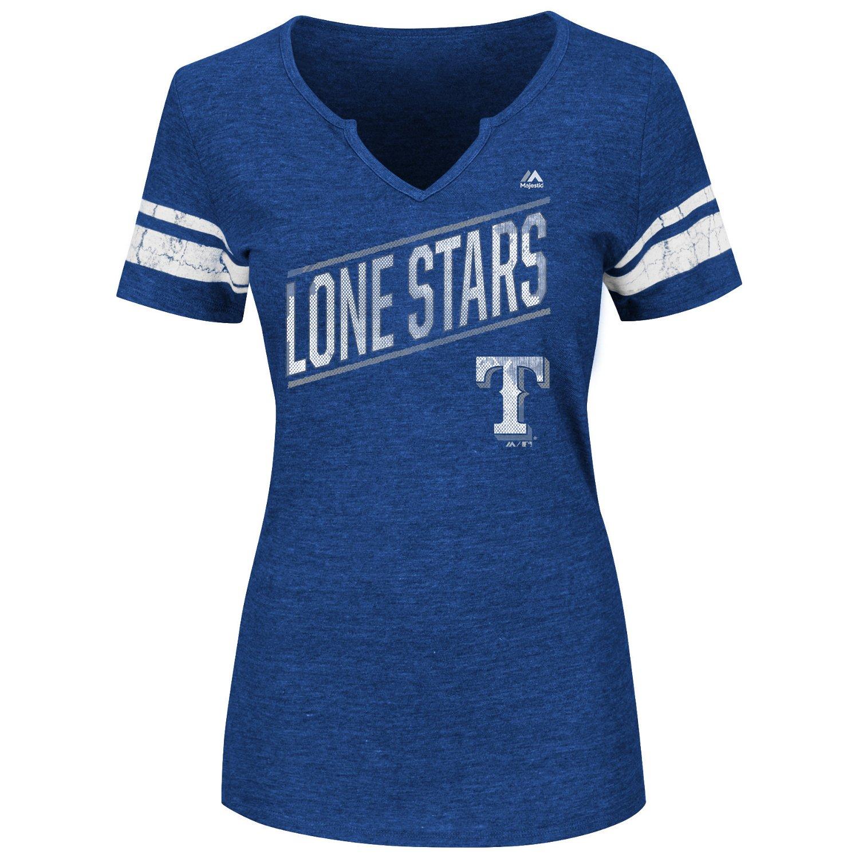 Majestic Women's Texas Rangers Success is Earned T-shirt