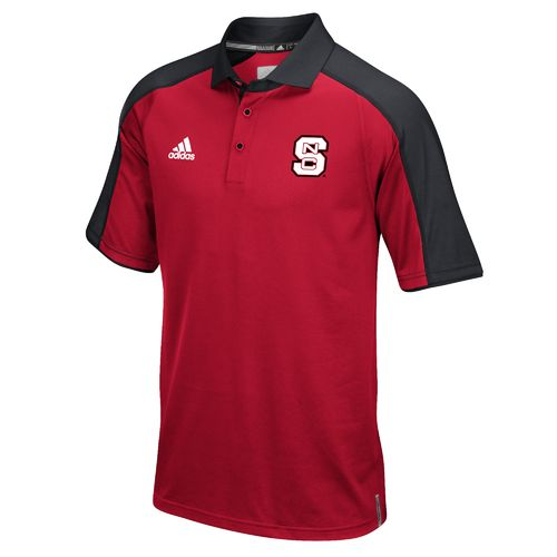 adidas™ Men's North Carolina State University Sideline Polo Shirt