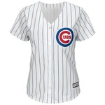 Majestic Women's Chicago Cubs Addison Russell #27 Cool Base Replica Home Jersey - view number 1