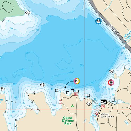 Fishing hot spots melvern lake fishing map academy for Fishing spots finder