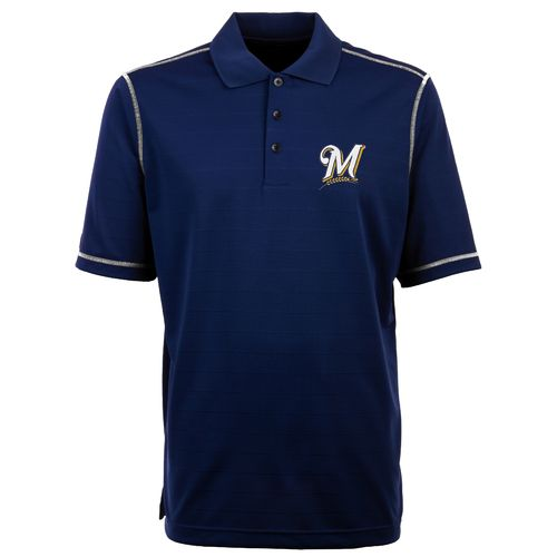 Antigua Men's Milwaukee Brewers Icon Piqué Polo Shirt
