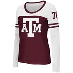 Colosseum Athletics™ Women's Texas A&M University Hornet Football Long Sleeve T-shirt