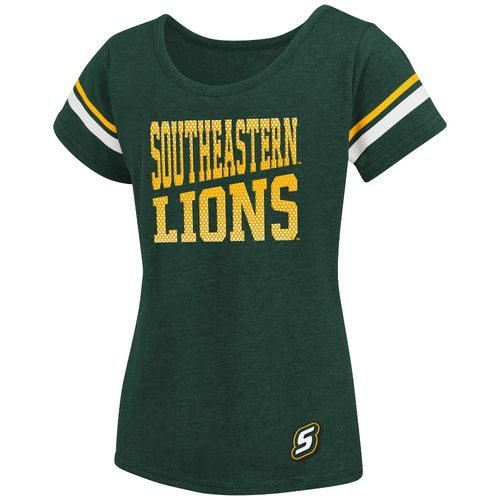 Colosseum Athletics™ Girls' Southeastern Louisiana University Fading Dot T-shirt