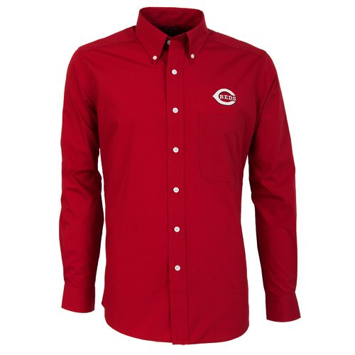 Antigua Men's Cincinnati Reds Dynasty Long Sleeve Button Down Shirt - view number 1