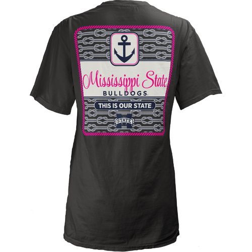 Three Squared Juniors' Mississippi State University Knotty Tide T-shirt