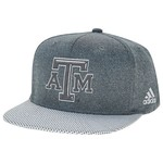 adidas Men's Texas A&M University Flat Brim Snapback Cap - view number 1