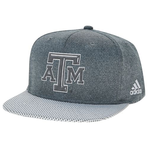 adidas Men's Texas A&M University Flat Brim Snapback Cap