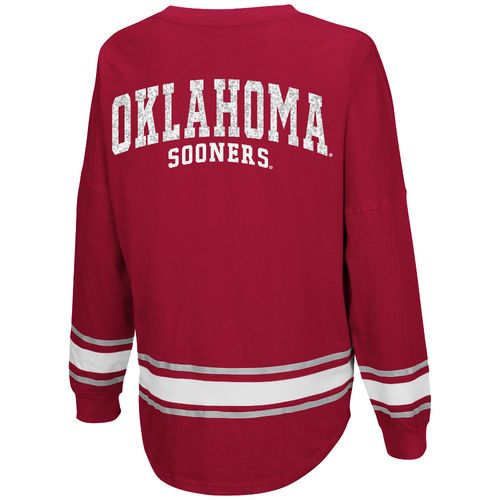 Colosseum Athletics™ Women's University of Oklahoma My Boyfriend Varsity Pullover