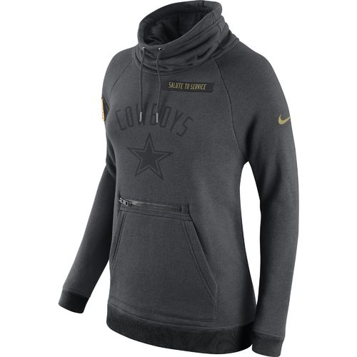 Nike Women's Dallas Cowboys Salute to Service Funnel Neck Hoodie