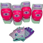 Raskullz Girls' Heart Gem Pad and Glove Set