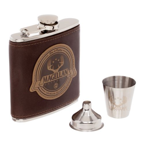 Magellan Outdoors™ Flask and Shot Glass Set