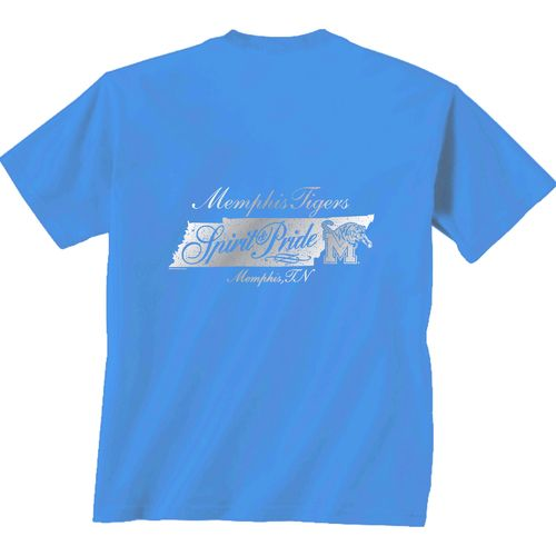 New World Graphics Women's University of Memphis Distress CC T-shirt