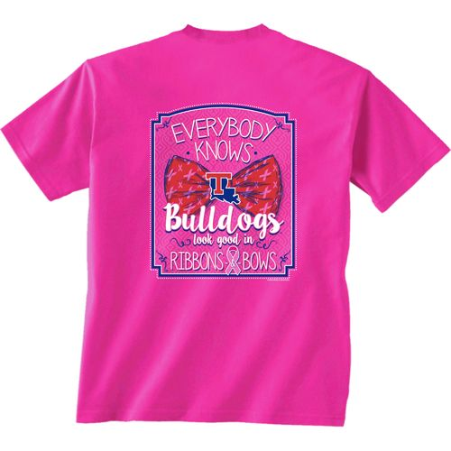 New World Graphics Women's Louisiana Tech University BCA Ribbon T-shirt