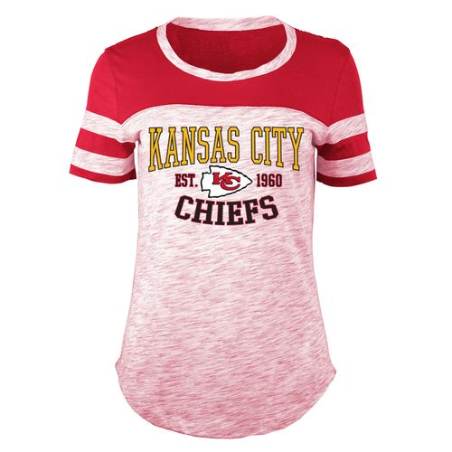 5th & Ocean Clothing Juniors' Kansas City Chiefs Space Dye Fan T-shirt