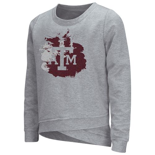 Colosseum Athletics™ Girls' Texas A&M University Alaia Long Sleeve Pullover - view number 1