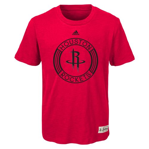 adidas™ Boys' Houston Rockets Legacy Short Sleeve Slub