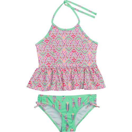 O'Rageous Kids Girls' Bohemian Princess 2-Piece Tankini Swimsuit