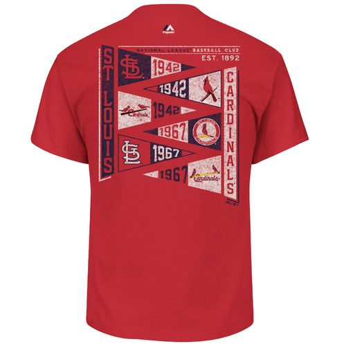 Majestic Men's St. Louis Cardinals Wave the Pennant T-shirt