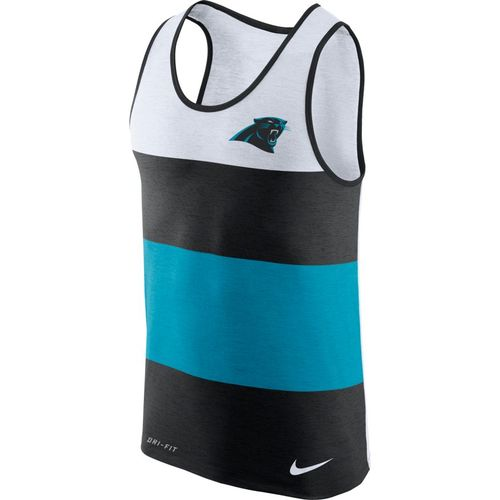 Nike Men's Carolina Panthers Dry Stripe Tank Top