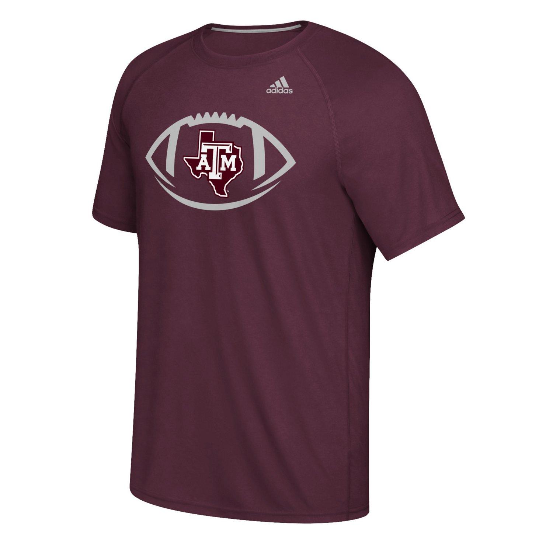 adidas Men's Texas A&M University Sideline Pigskin T-shirt