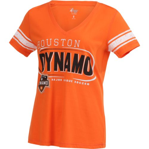 G-III for Her Women's Houston Dynamo First Pick Striped V-neck T-shirt - view number 3