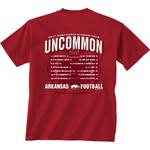 New World Graphics Men's University of Arkansas Football Schedule '17 T-shirt - view number 1