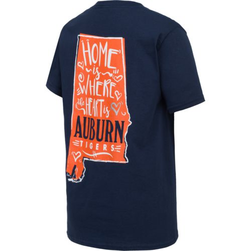 New World Graphics Girls' Auburn University Where the Heart Is T-shirt - view number 2