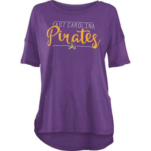 Three Squared Juniors' East Carolina University Script T-shirt