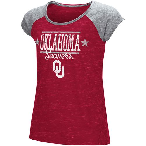 Colosseum Athletics Girls' University of Oklahoma Sprints T-shirt