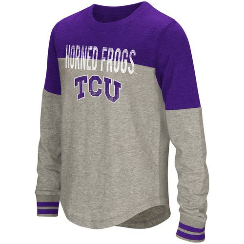 Colosseum Athletics Girls' Texas Christian University Baton Long Sleeve T-shirt
