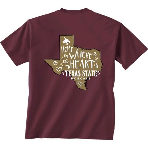 New World Graphics Girls' Texas State University Where the Heart Is Short Sleeve T-shirt