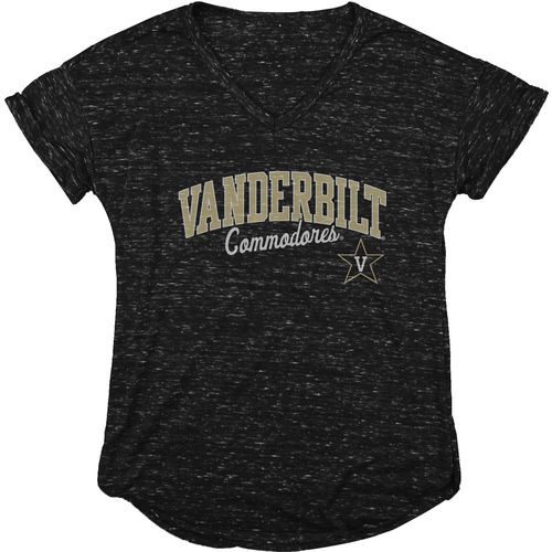 Blue 84 Women's Vanderbilt University Dark Confetti V-neck T-shirt