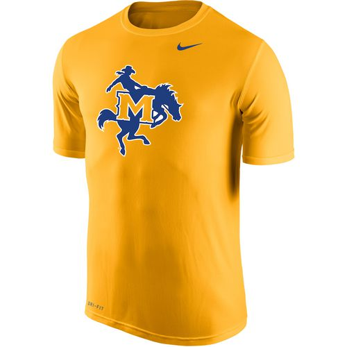 Nike Men's McNeese State University Dri-FIT Legend 2.0 Short Sleeve T-shirt - view number 1
