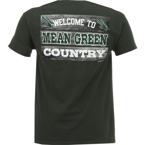 New World Graphics Men's University of North Texas Welcome Sign T-shirt