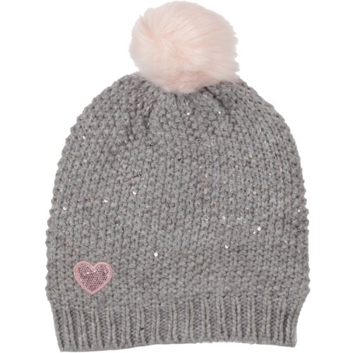 Magellan Outdoors Girls' Sequin Heart Embroidery Beanie
