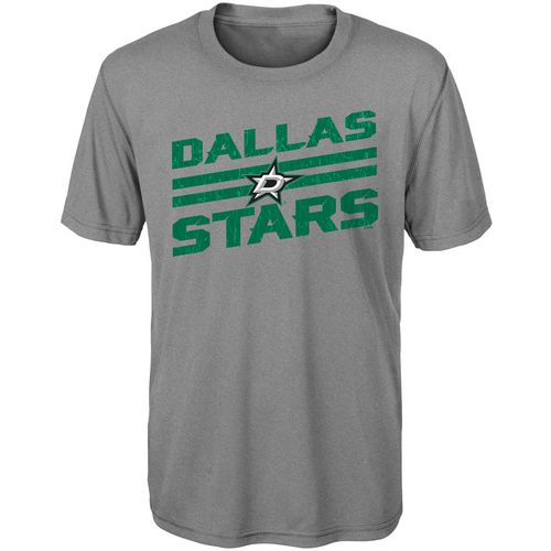 adidas Boys' Dallas Stars Iced Through Performance Short-Sleeve T-shirt