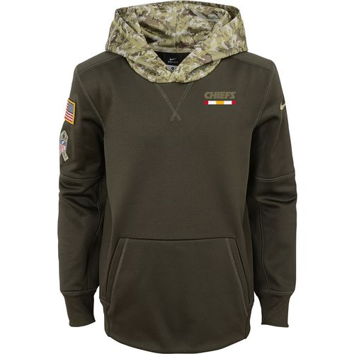 Nike Boys' Kansas City Chiefs Salute to Service Hoodie