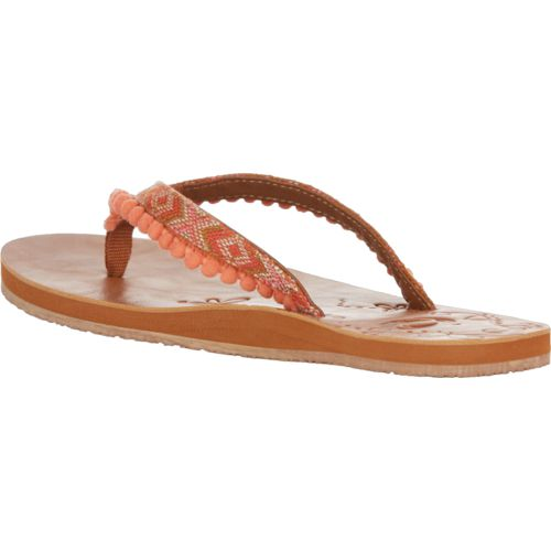 O'Rageous Women's Belted Pom Thong Sandals - view number 3