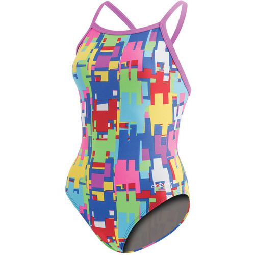 Dolfin Women's Competitive Thin Strap V2 Back 1-Piece Swimsuit