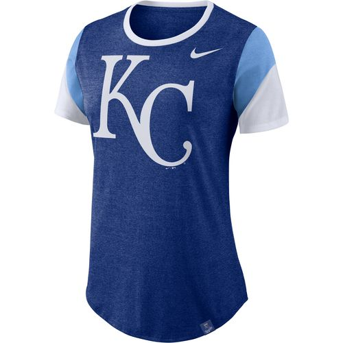 Nike Women's Kansas City Royals Logo Triblend Stripe T-shirt