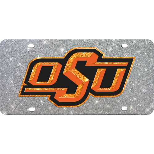 Stockdale Oklahoma State University Glitter License Plate