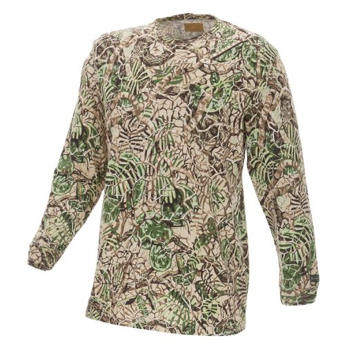 Brush Country Camouflage Men's Allover Camo Long Sleeve Pocket T-shirt
