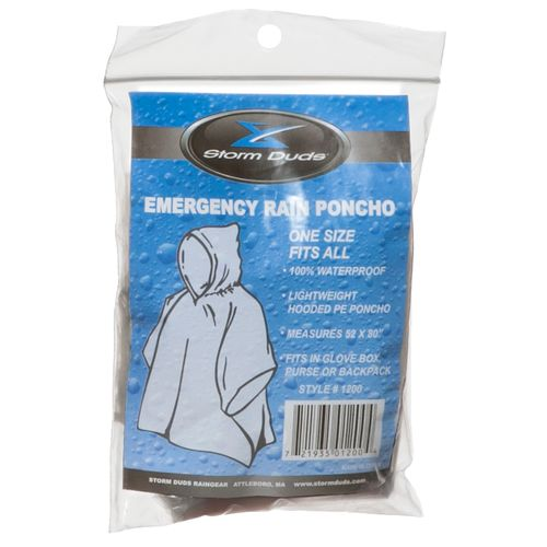 Storm Duds Adults' Emergency Rain Poncho