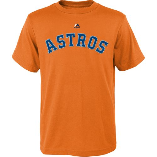 Majestic Youth Houston Astros José Altuve #27 Official Name and Number T-shirt