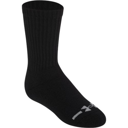 Under Armour Boys' Charged Cotton Crew Socks